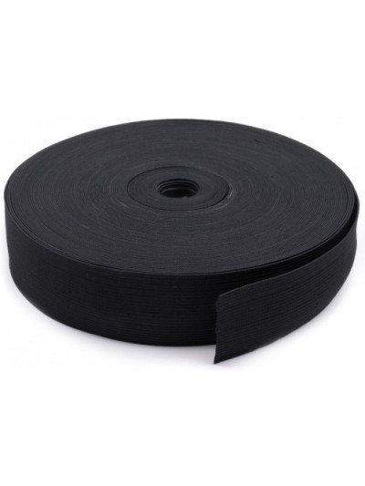 Резинка 50 мм, цвет черный
