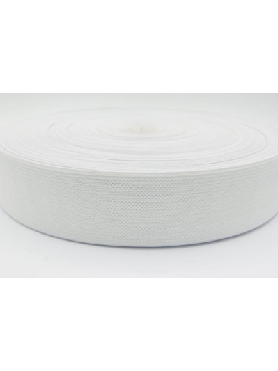 Резинка 60 мм, цвет белый