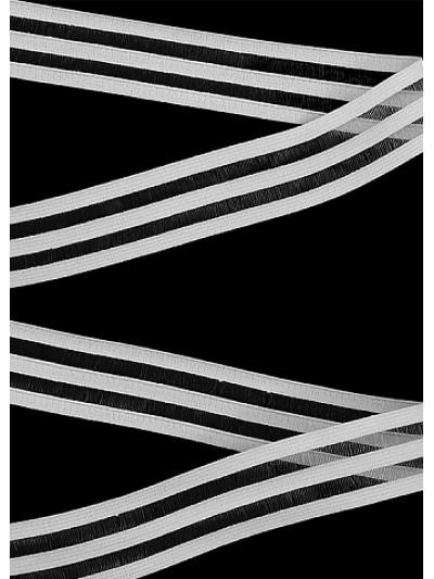 Резинка декоративная цв.белый 20мм