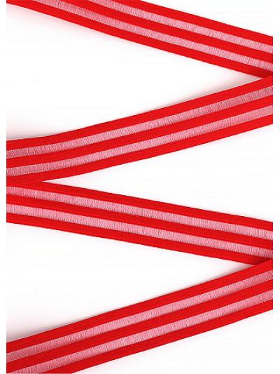 Резинка декоративная цв.красный 20мм