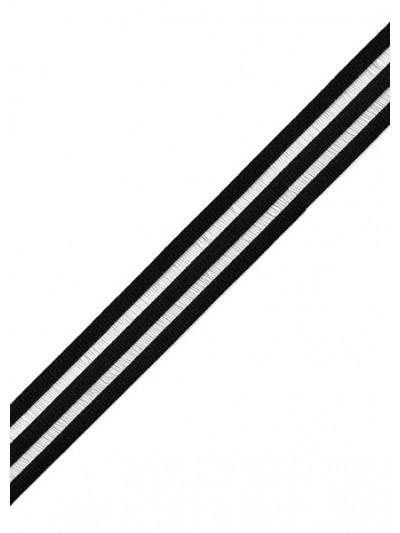 Резинка декоративная цв.черный 20мм