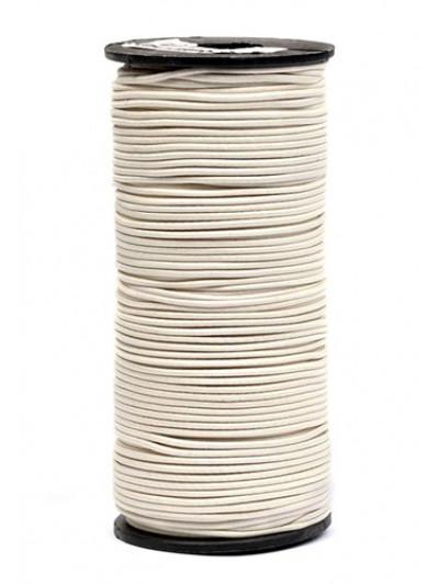 Резинка шляпная (круглый шнур) молочный 2мм