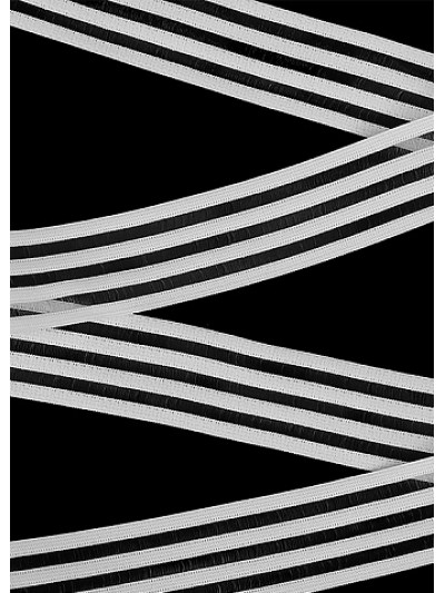 Резинка декоративная цв.белый 30мм