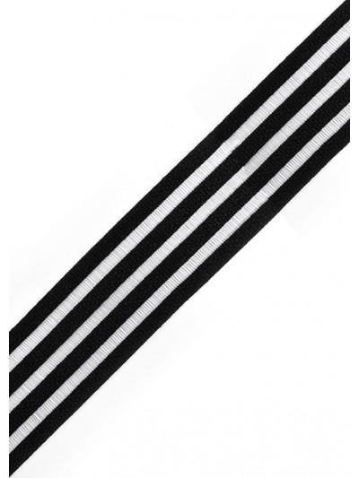 Резинка декоративная цв.черный 30мм