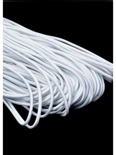 Резинка шляпная (круглый шнур) белый 3мм