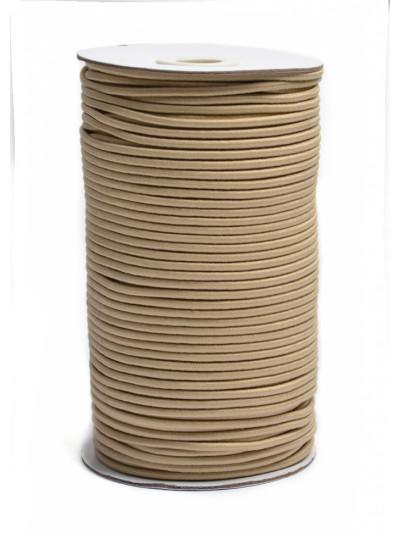 Резинка шляпная (круглый шнур) бежевый 3мм