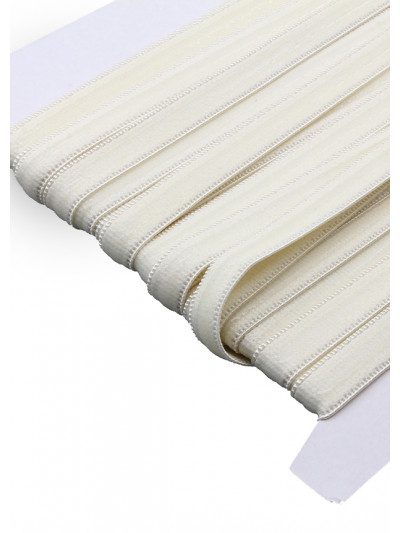 Резинка бельевая с силиконом (белая) 10мм