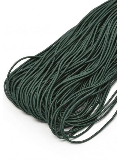 Резинка шляпная (круглый шнур) 2мм зеленый