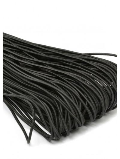 Резинка шляпная (круглый шнур) черный 2мм