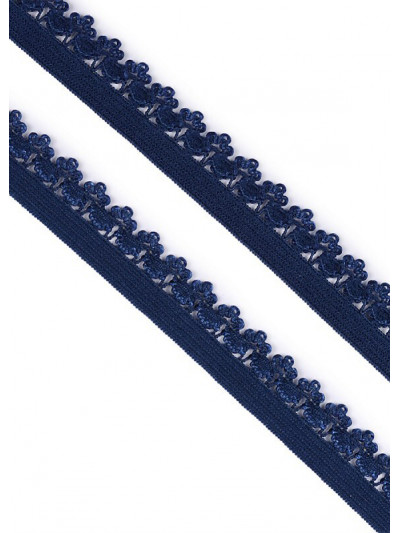 Резинка бельевая ажурная (т.синий) 12мм