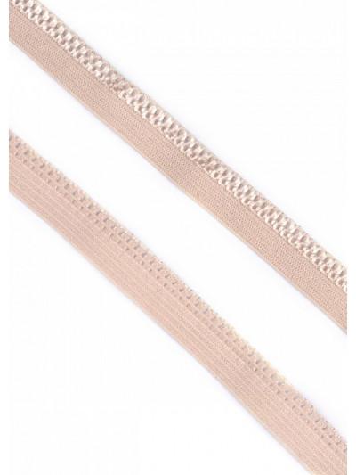Резинка бельевая ажурная (серебристый пион) 10 мм