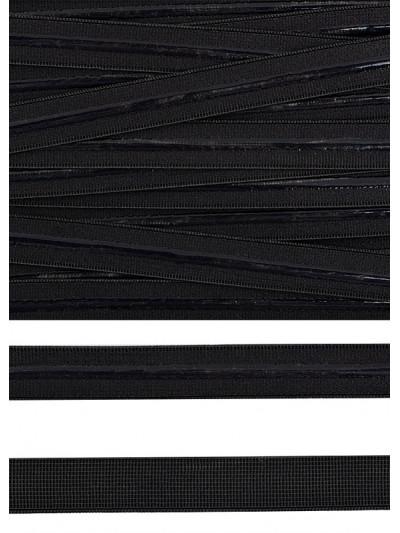 Резинка бельевая с силиконом (черная) 10мм