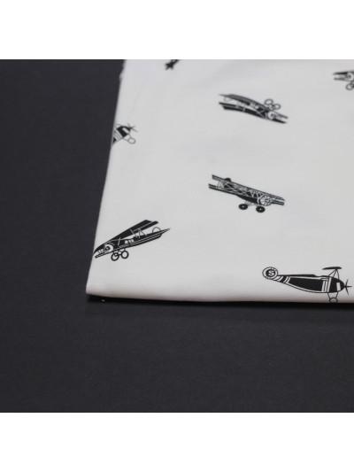 """Футер 3-х нитка """"Белый самолёт»"""
