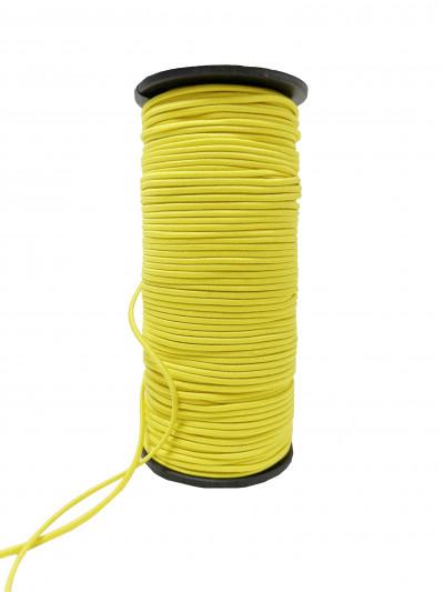 Резинка шляпная (круглый шнур) желтый 2мм