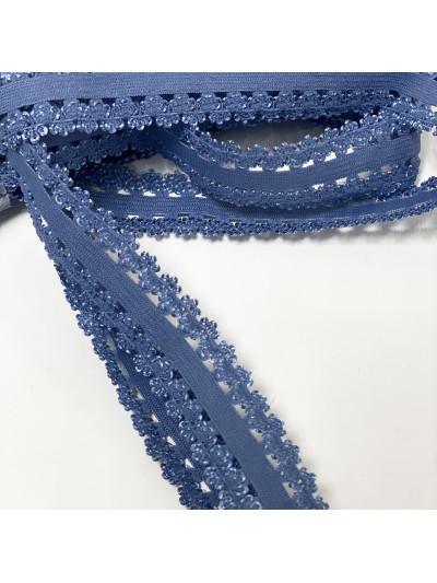 Резинка бельевая ажурная (голубая)