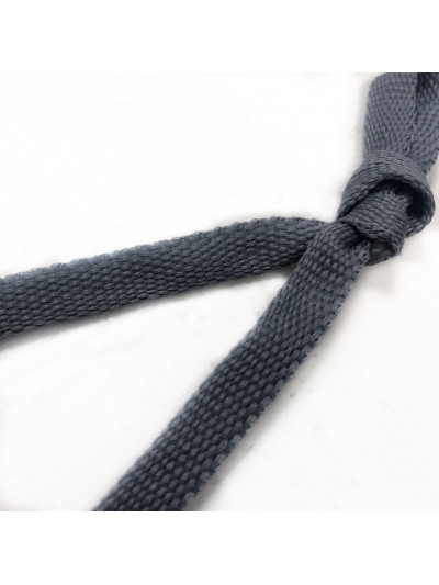 Шнур плоский Цв. серый