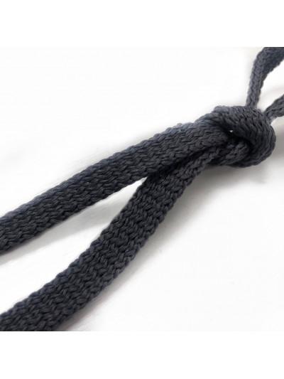 Шнур плоский Цв. Темно-Серый